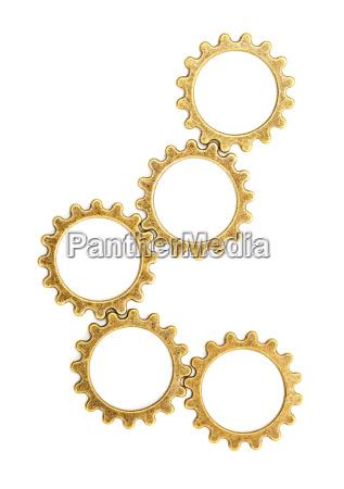 vintage mechanical cogwheel gears wheels