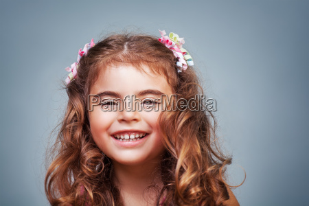 cute happy little girl