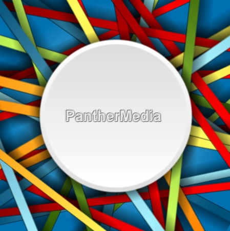 colorful stripes background with blank circle