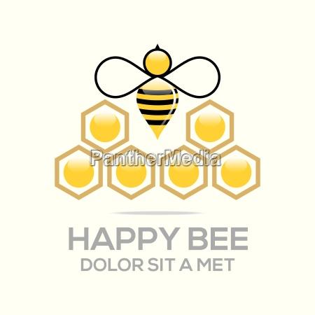 logo beehive sweet natural and honeycomb