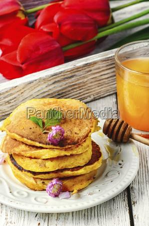 morning breakfast pancakes