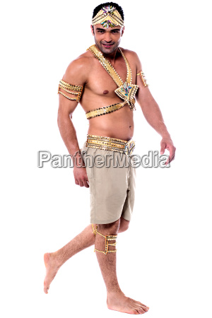 handsome dancer in carnival costume