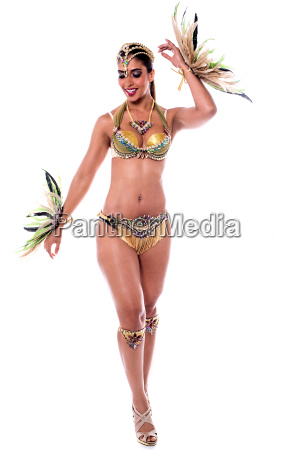 woman dancing samba