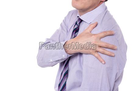cropped image of man having
