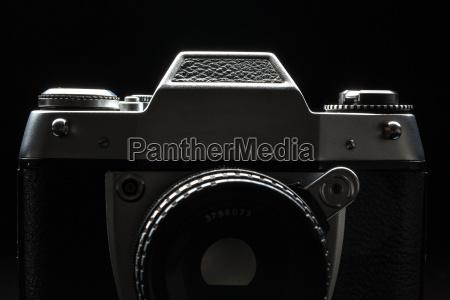 old film camera low key