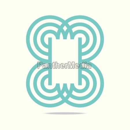 logo abstract infinity corporation concept
