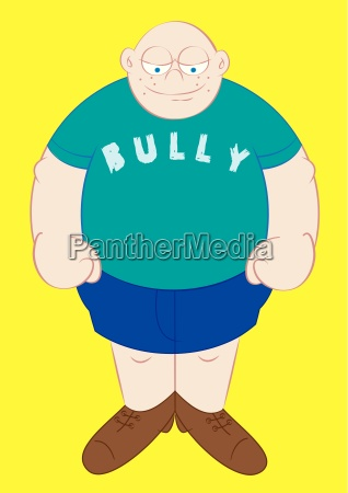 big and strong school bully