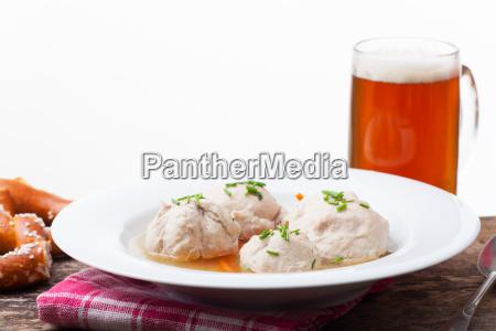 liver dumpling lump dumplings soup