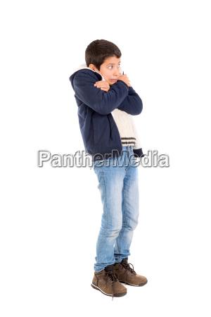boy with fear