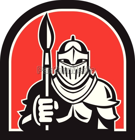 knight full armor holding paint brush