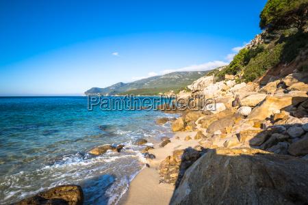 beautiful beach of setubal near lisbon
