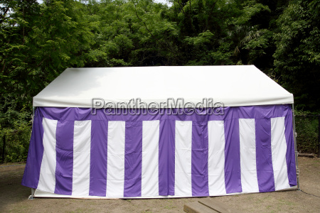 large white tent for event in