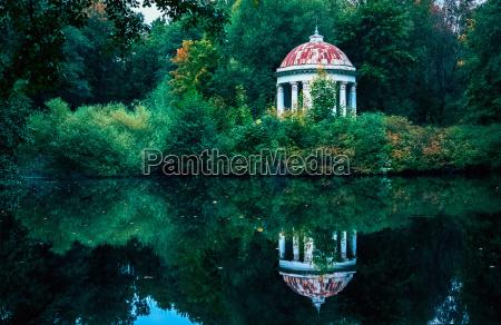gazebo rotunda in the park by