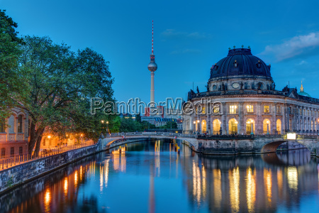 the bodemuseum and the television tower