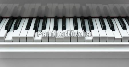 pressed piano keys background