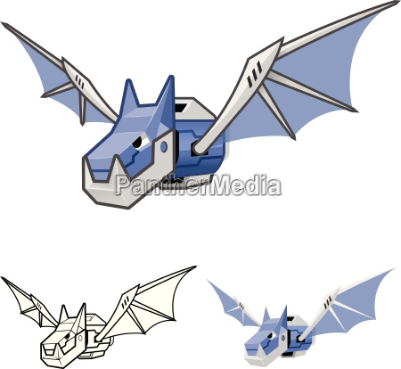 robot bat cartoon character include flat
