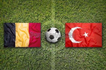 belgium vs turkey flags on soccer
