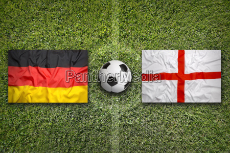 germany vs england flags on soccer