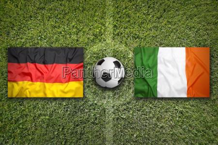 germany vs ireland flags on soccer