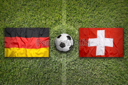 germany vs switzerland flags on soccer