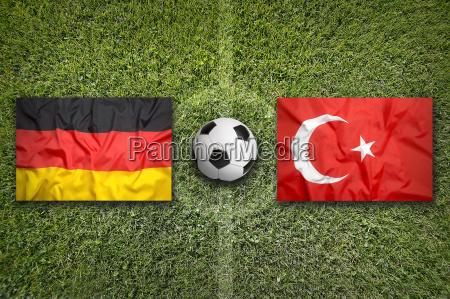 germany vs turkey flags on soccer