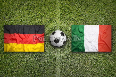 germany, vs., italy, flags, on, soccer - 17369750