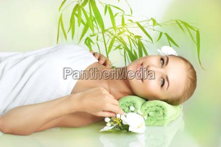 happy woman at spa