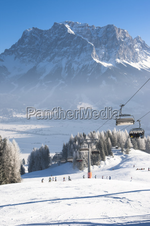austria tyrol lermoos chair lift in