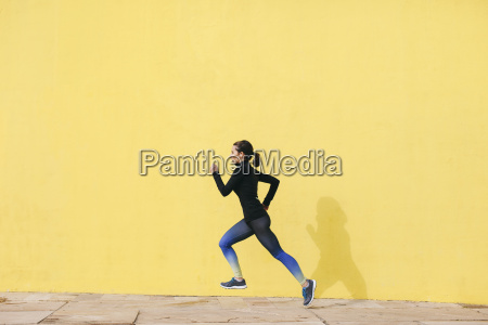 spain barcelona jogging woman in front