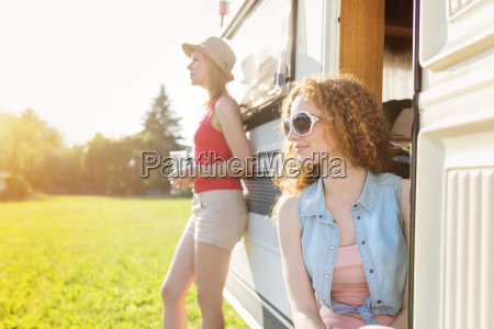 two female friends at holiday with