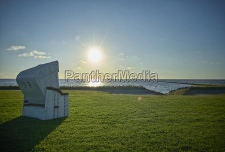 germany dithmarschen friedrichskoog spitze sunset at