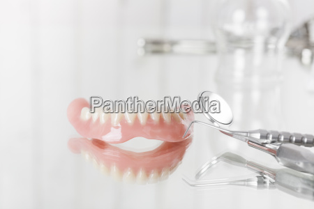 prosthesis probe and mirror dental instruments