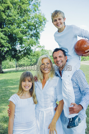 portrait of happy family in a
