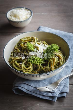 bowl of whole grain spelt pasta