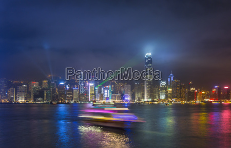 china hong kong victoria harbour at