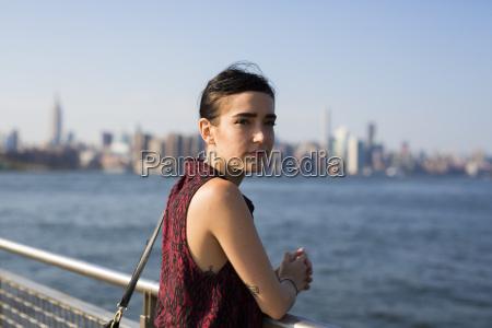 usa new york city williamsburg portrait