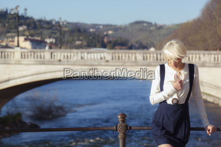 italy verona blond woman standing in