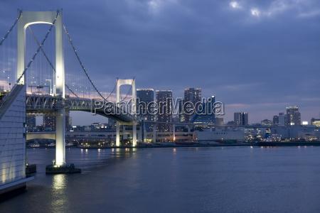 japan tokyo rainbow bridge in the