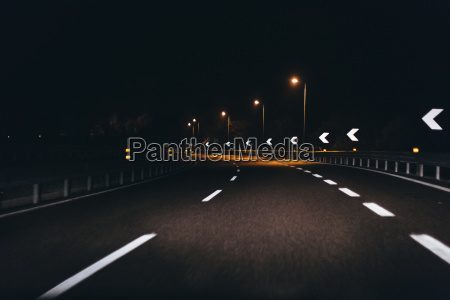 italy udine driving at night along