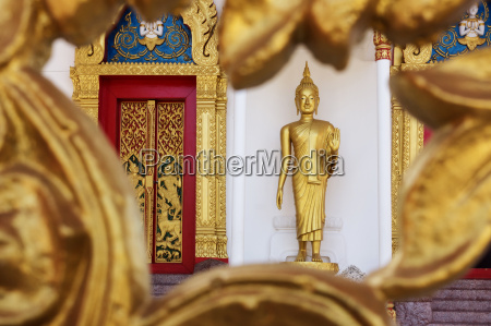 thailand phuket golden buddha statue at