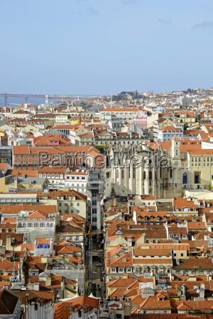portugal lisbon cityscape ponte 25 de