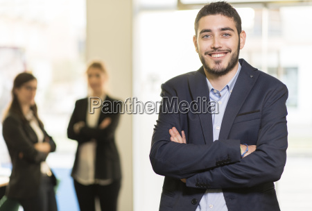 portrait of confident young man in