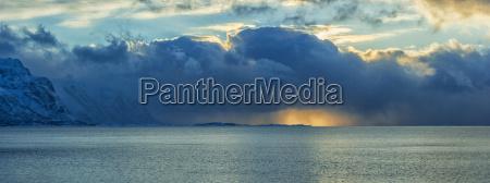 norway lofoten islands sunset on the