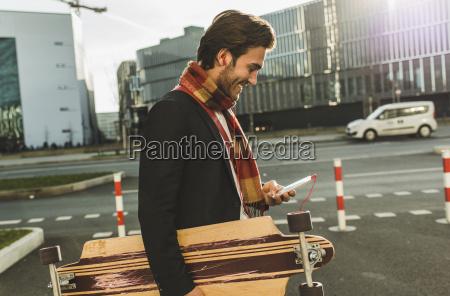 germany frankfurt young businessman walking the