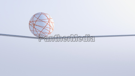 3d rendering balance object ball on