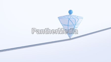 3d rendering balance object cone on