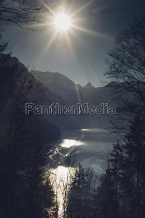 germany bavaria berchtesgadener land alps winter