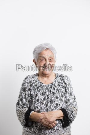 portrait of happy senior woman in