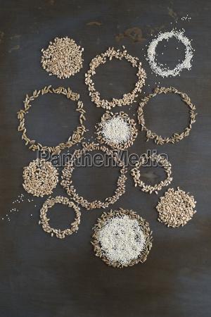 different grains building circles