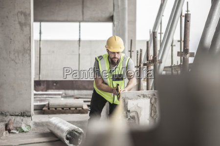 construction worker working in construction site
